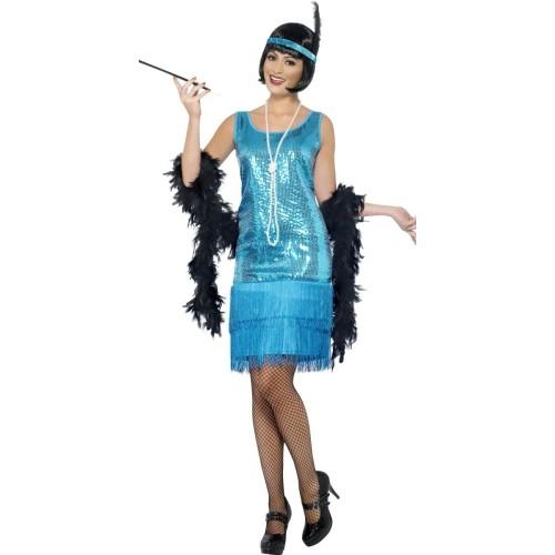 Flapper turkizen kostum
