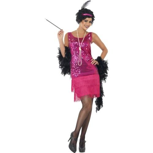 Flapper pink kostum