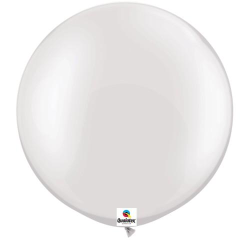 Balon Pearl White 75 cm