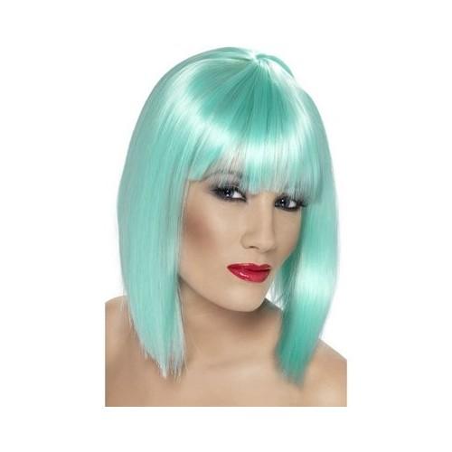 Glam Wig - neon aqua