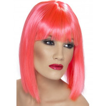 Glam Wig - neon pink