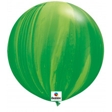 Balon Green Rainbow - 75 cm - 2 kom