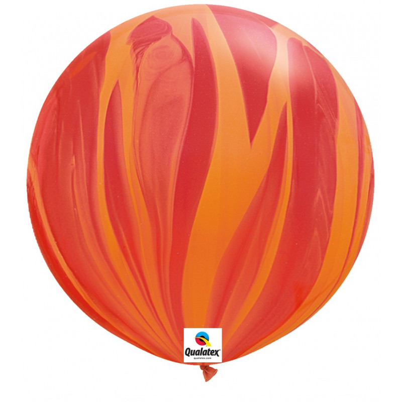 Balon Red Orange Rainbow- 75 cm - 2 kom