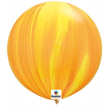 Balon Yellow Orange Rainbow - 75 cm - 2 kom