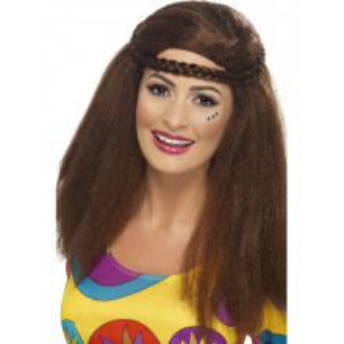 Hippy ženska lasulja - rjava
