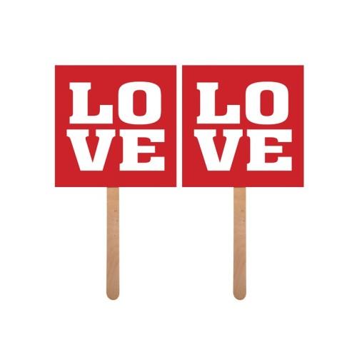 Ljubav - natpis na štapiću