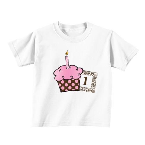 Kinder T-Shirt - Nummer 1 - rosa Kuchen