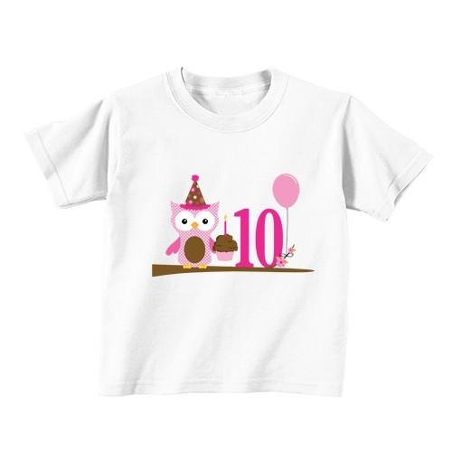 Kinder T-Shirt - Nummer 10 - Eule