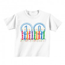 Kids T - Shirt - Number 10 - Candles