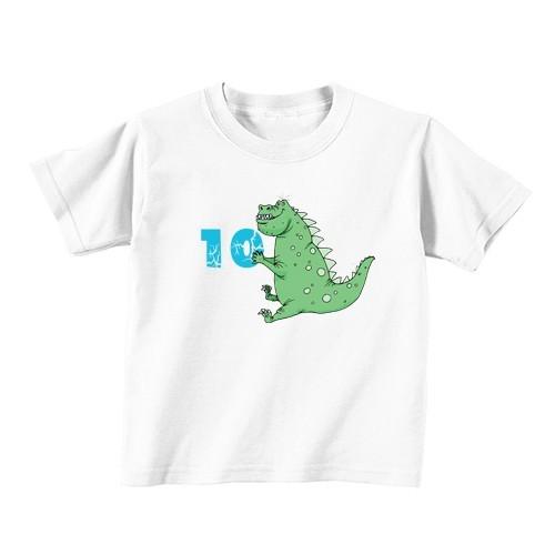 Kids T - Shirt - Number 10 - Dinosaur