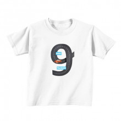 Kinder T-Shirt - Nummer 9 - Autobahn