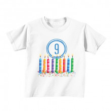 Kids T - Shirt - Number 9 - Candles