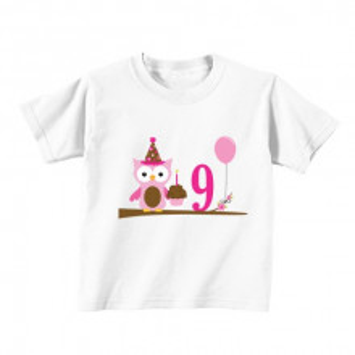 Kids T - Shirt - Number 9 - Owl