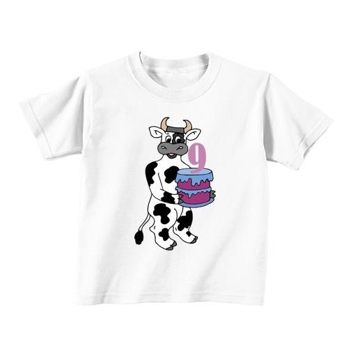 Otroška majica - Številka 9 - kravica