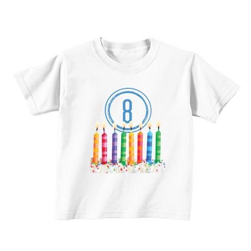 Kinder T-Shirt - Nummer 8 - Kerzen