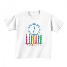 Kids T - Shirt - Number 7 - Candles