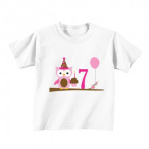 Kids T - Shirt - Number 7 - Owl