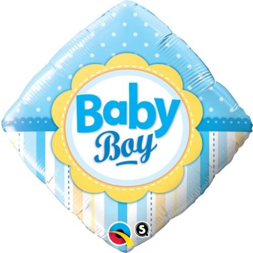 Baby Boy Dots & Stripes - foil balloon