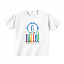 Kids T - Shirt - Number 6 - Candles