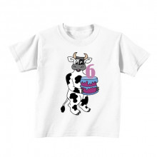Kinder T-Shirt - Nummer 6 und Kuh