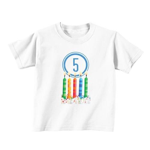 Kinder T-Shirt - Nummer 5 - Kerzen