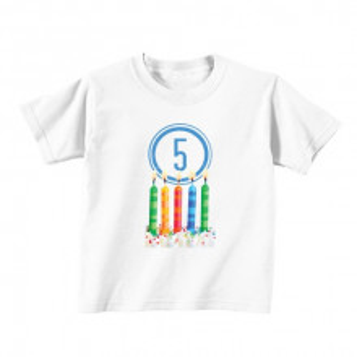 Otroška majica - Številka 5 - svečke
