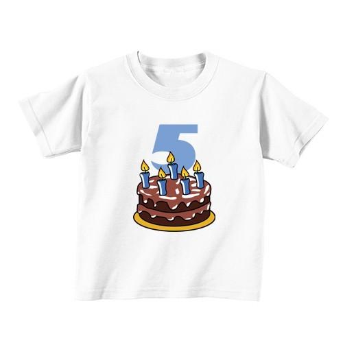 Kids T - Shirt - Number 5 - Cake