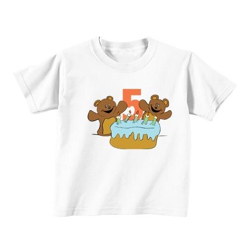 Kinder T-Shirt - Nummer 5 - Teddybären