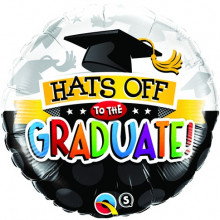 Hats Off To The Graduate! - foil balloon