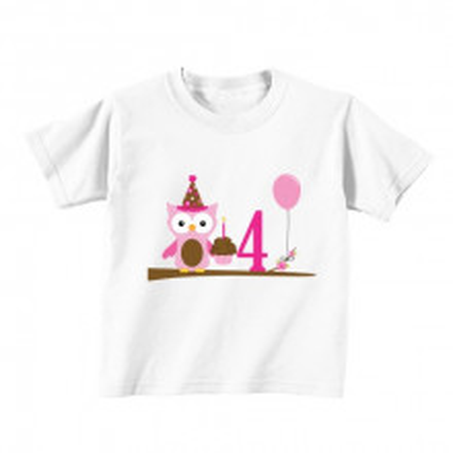 Kids T - Shirt - Number 4 - Owl