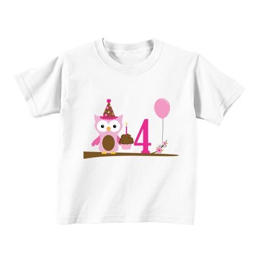 Otroška majica - Številka 4 - sovica