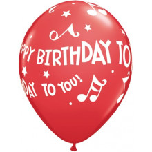 Balloon Happy Birthday To You Music Notes