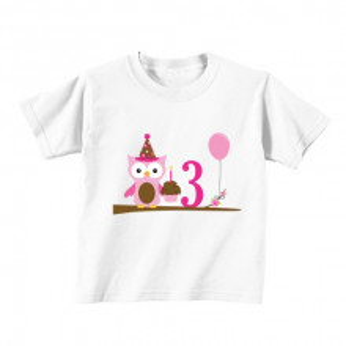 Kids T - Shirt - Number 3 - Owl