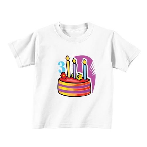 Kids T - Shirt - Number 3 - Cake