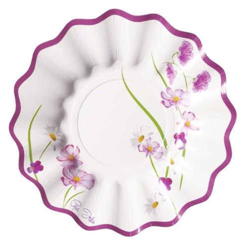 Purple flowers plates 15 cm