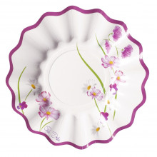 Vijolične cvetlice krožniki 15 cm
