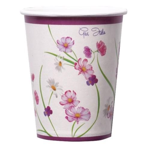 Vijolične cvetlice kozarčki 250 ml