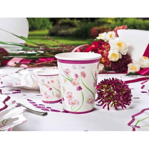 Purple flowers cups 250 ml