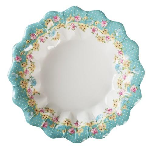 Flowers plates 24 cm