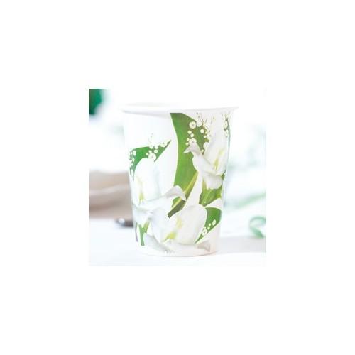 Beli cvetovi kozarčki 250 ml