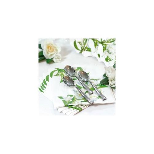 White flowers napkins