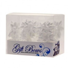 Ribbons in a box - white