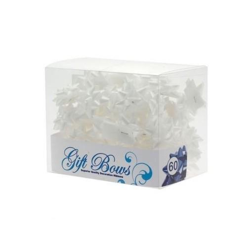 Mini mašne v škatlici - bela
