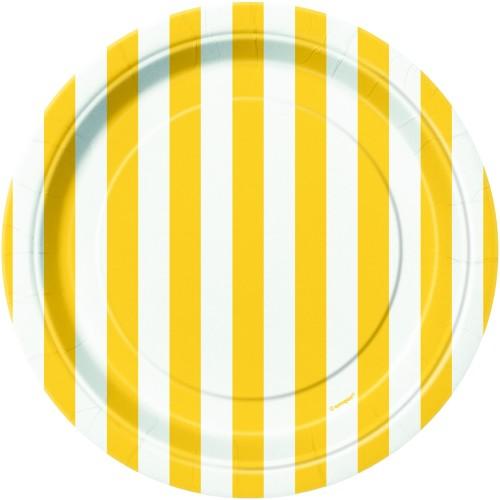 Rumene črte krožniki 18 cm