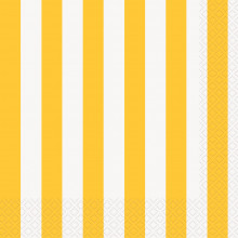 Yellow luncheon napkins with stripes