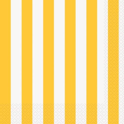 Rumene črte večji servieti