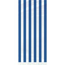 Cello bags with blue stripes