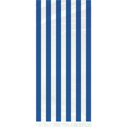 Modre črte celofan darilne vrečke