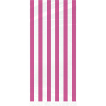 Cello bags with pink stripes