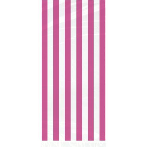 Pink črte celofan darilne vrečke